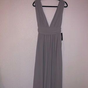 Lulus Light Grey Long Dress